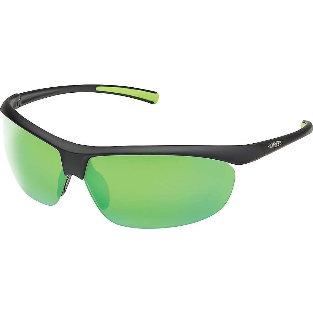 サンクラウド Suncloud メンズ 自転車 【Zephyr Polarized Sunglasses】Matte Black/Green Mirror Polarized