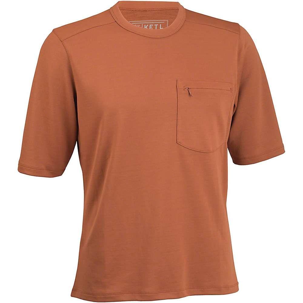 KETL メンズ フィットネス・トレーニング トップス【Merino Blend Short Sleeve Jersey】Clay