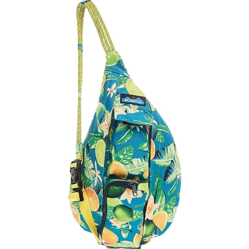 カブー Kavu ユニセックス ボディバッグ・ウエストポーチ バッグ【KAVU Mini Rope Sling】Ocean Citrus