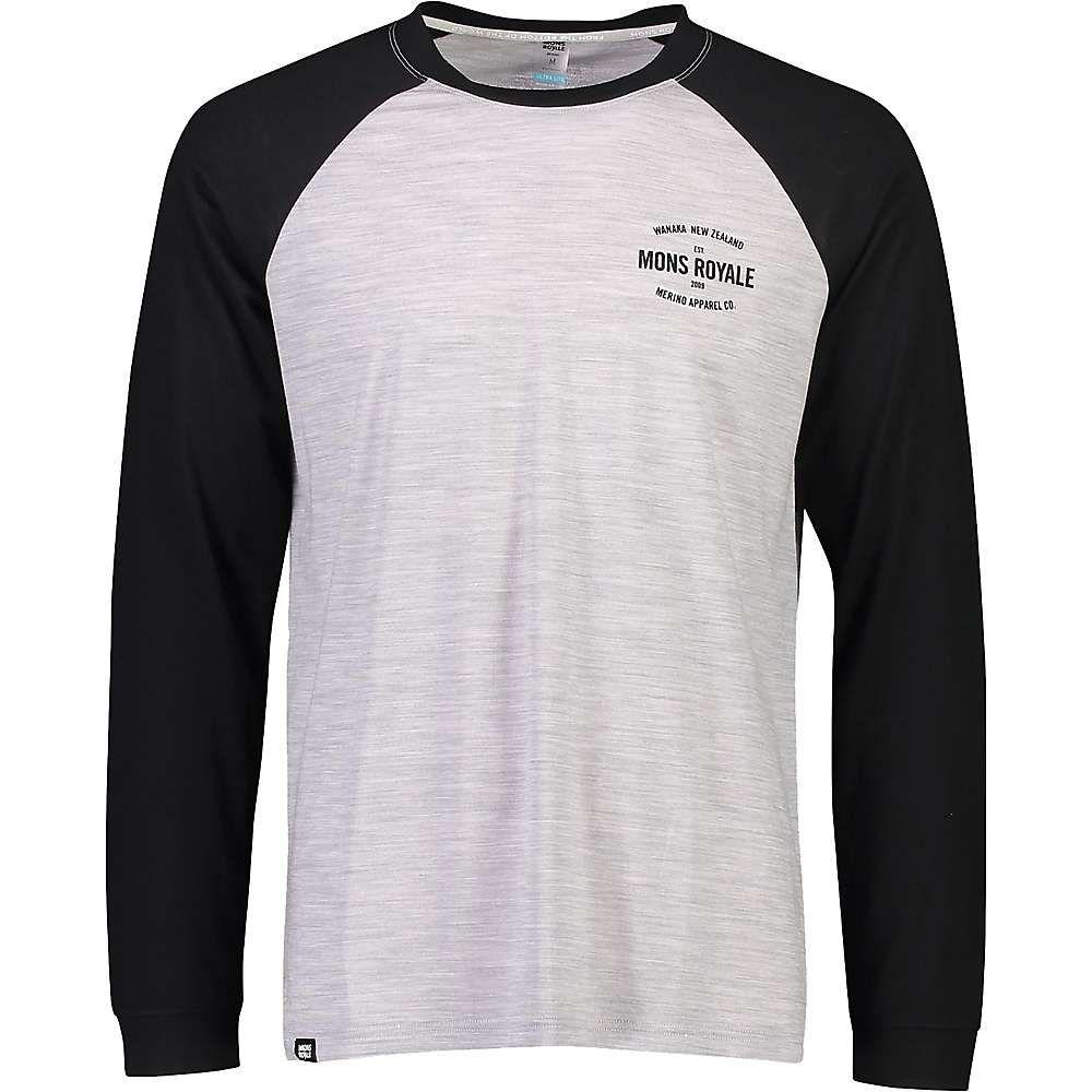 モンスロイヤル Mons Royale メンズ フィットネス・トレーニング ラグラン トップス【Icon Raglan LS Top】Black/Grey Marl