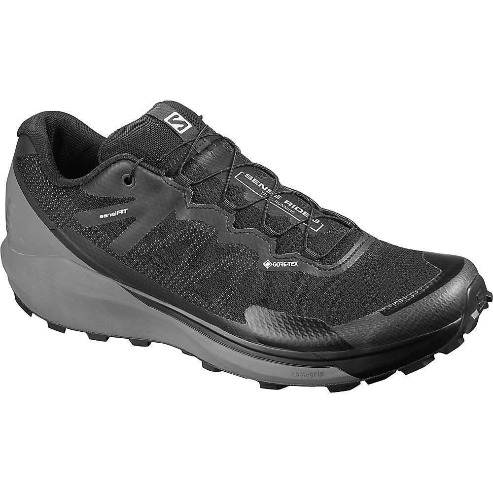 サロモン Salomon メンズ ランニング・ウォーキング シューズ・靴【Sense Ride GTX Invisible Fit Shoe】Black/Quiet Shade/Magnet
