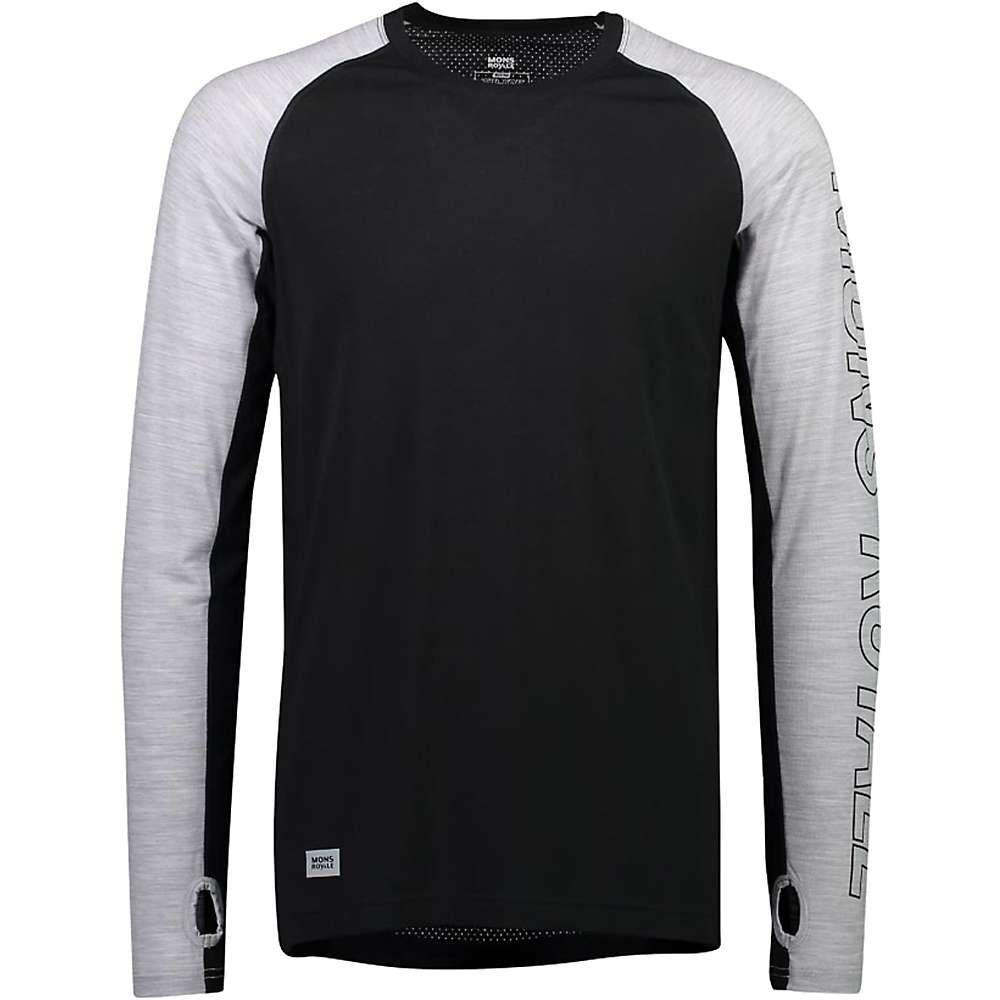 モンスロイヤル Mons Royale メンズ フィットネス・トレーニング トップス【Temple Tech LS Top】Black/Grey Marl