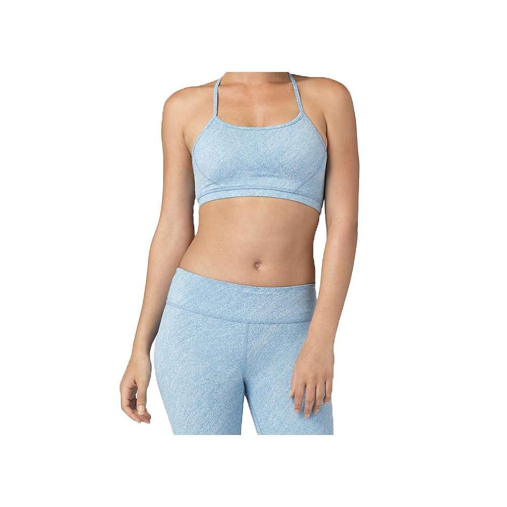 ビヨンドヨガ レディース トップス スポーツブラ【Beyond Yoga Keyhole Back Bra】Aquatic Blue / White Texture