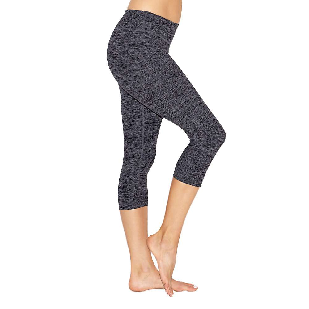 ビヨンドヨガ レディース ヨガ ウェア【Beyond Yoga Spacedye Capri Legging】Black / Steel Spacedye
