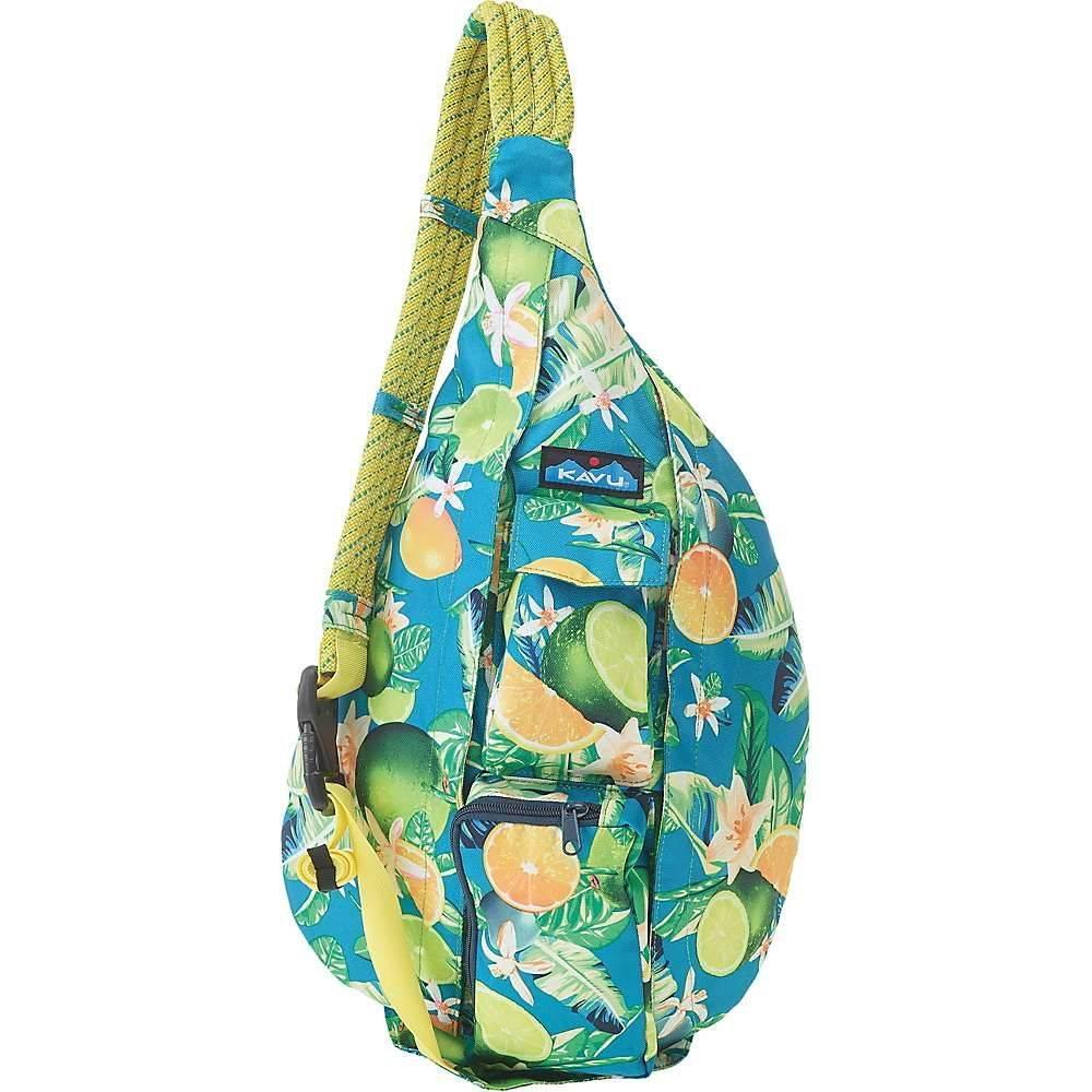 カブー Kavu レディース ボディバッグ・ウエストポーチ バッグ【KAVU Rope Sling Bag】Ocean Citrus