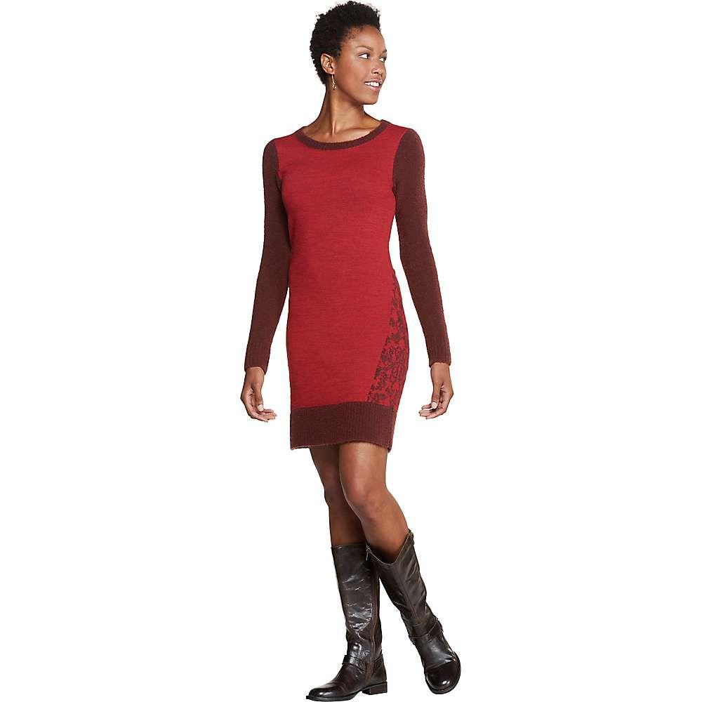 トードアンドコー Toad & Co レディース ワンピース ワンピース・ドレス【Lucianna Sweater Dress】Mahogany/Sanguine Red
