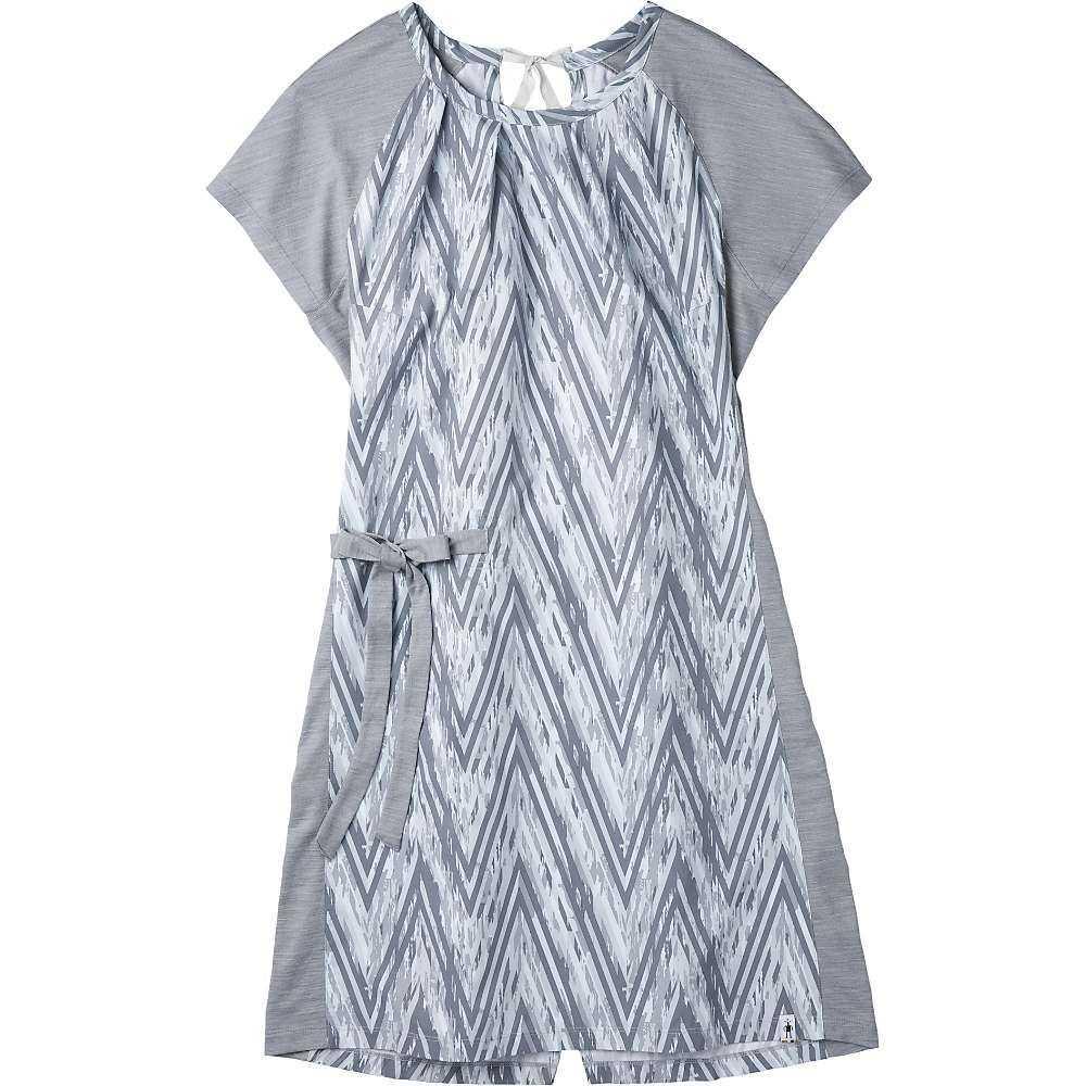 スマートウール Smartwool レディース ワンピース ワンピース・ドレス【Merino Sport SS Dress】Barely Blue Zig Zag Print