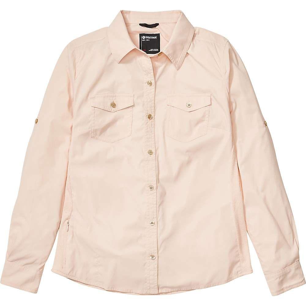 マーモット Marmot レディース ブラウス・シャツ トップス【Annika LS Shirt】Mandarin Mist
