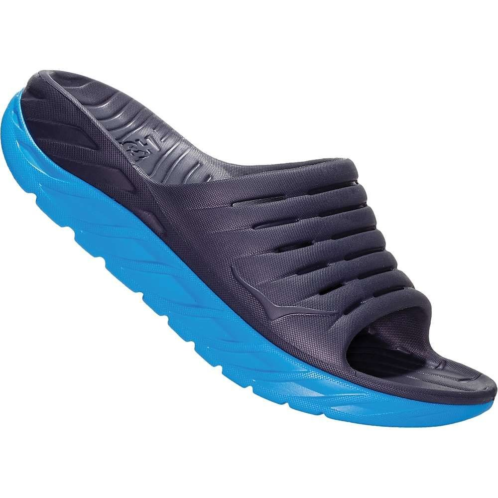 ホカ オネオネ Hoka One One レディース サンダル・ミュール シューズ・靴【Ora Recovery 2 Slide】Ebony/Dresden Blue