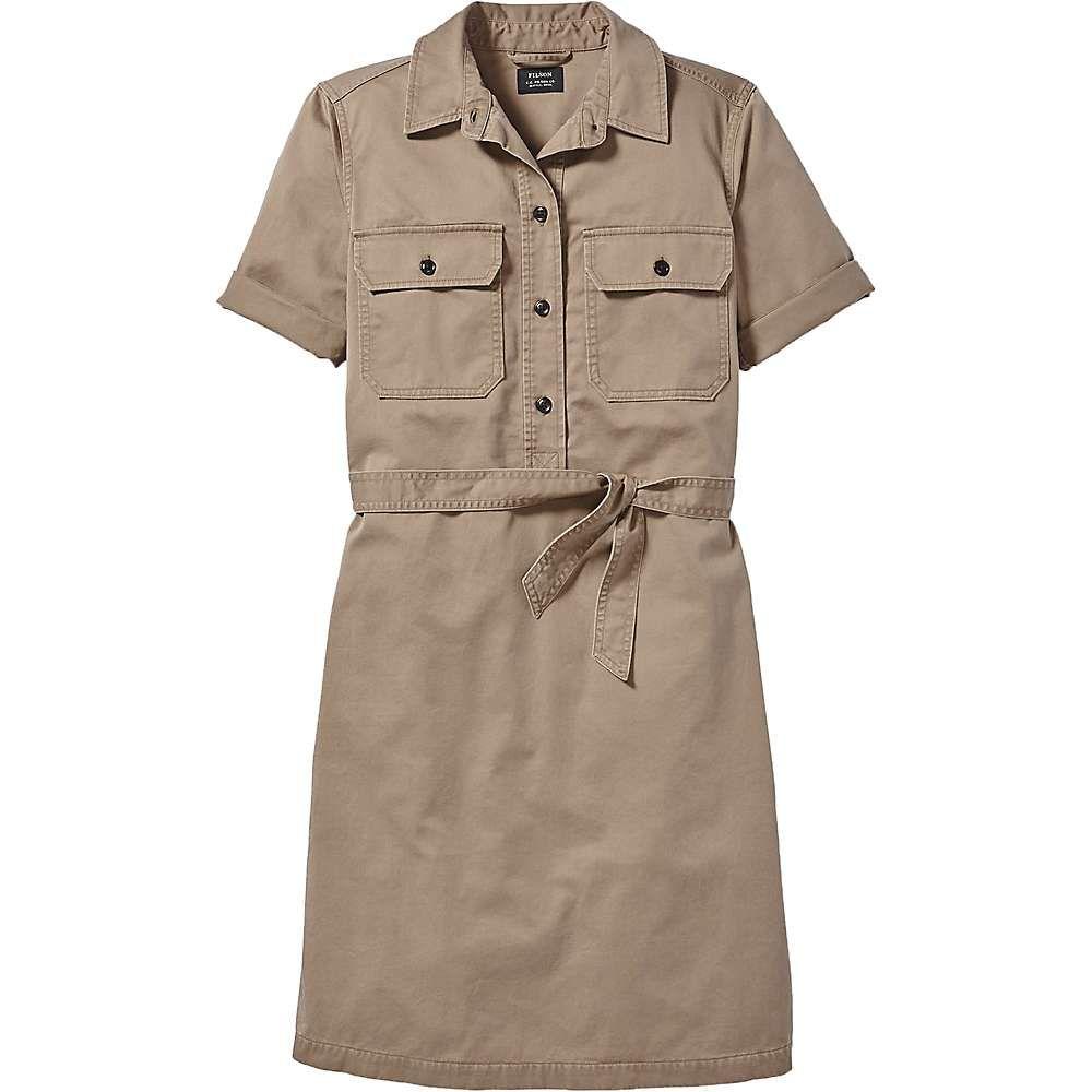 フィルソン Filson レディース ワンピース シャツワンピース ワンピース・ドレス【Colville SS Shirt Dress】Dark Tan