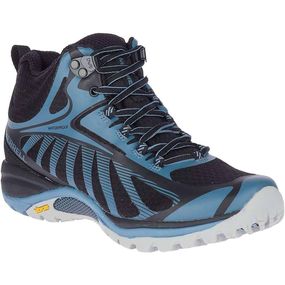 メレル Merrell レディース ハイキング・登山 シューズ・靴【Siren Edge 3 Mid Waterproof Shoe】Black/Bluestone