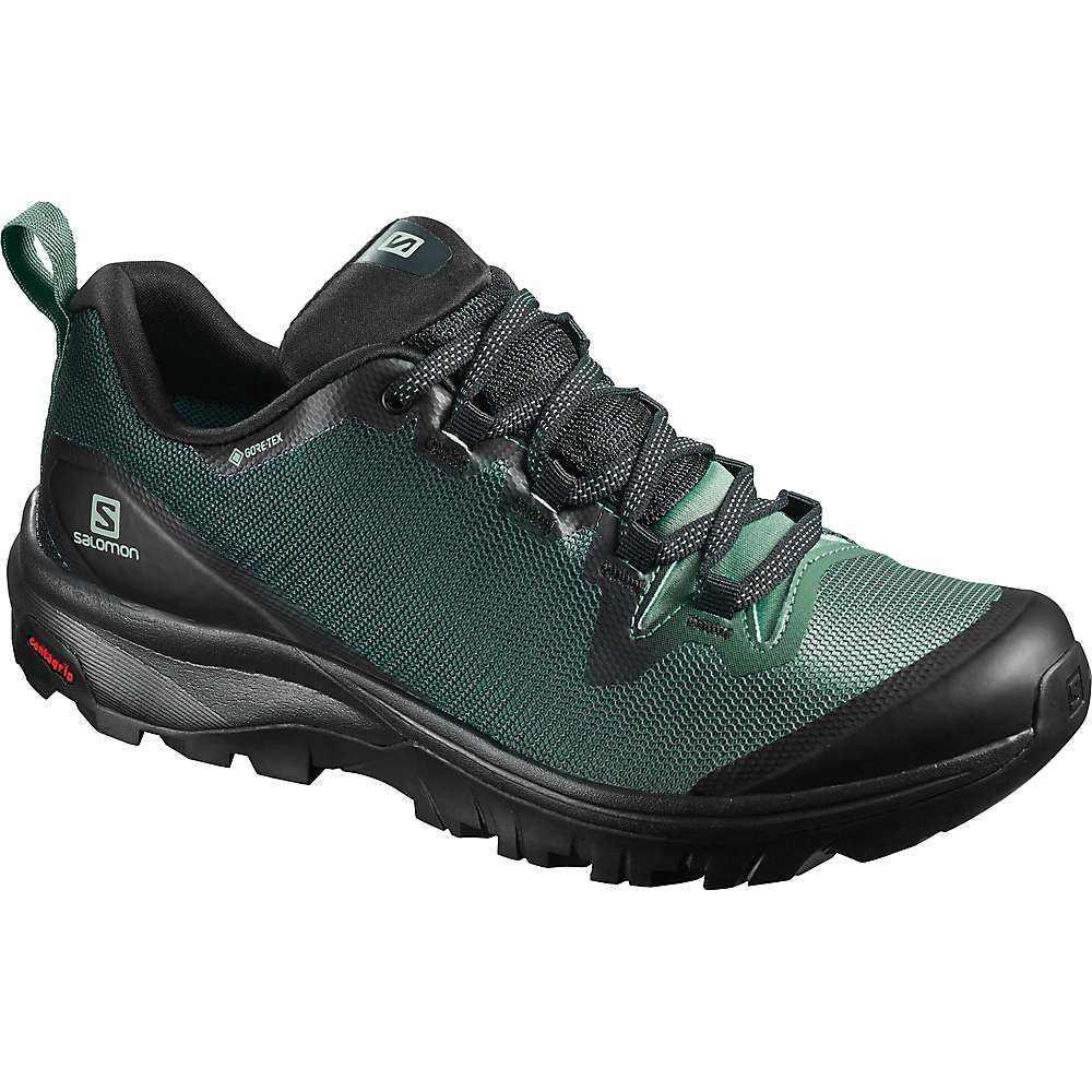 サロモン Salomon レディース ハイキング・登山 シューズ・靴【Vaya GTX Shoe】Black/Balsam Green/Black