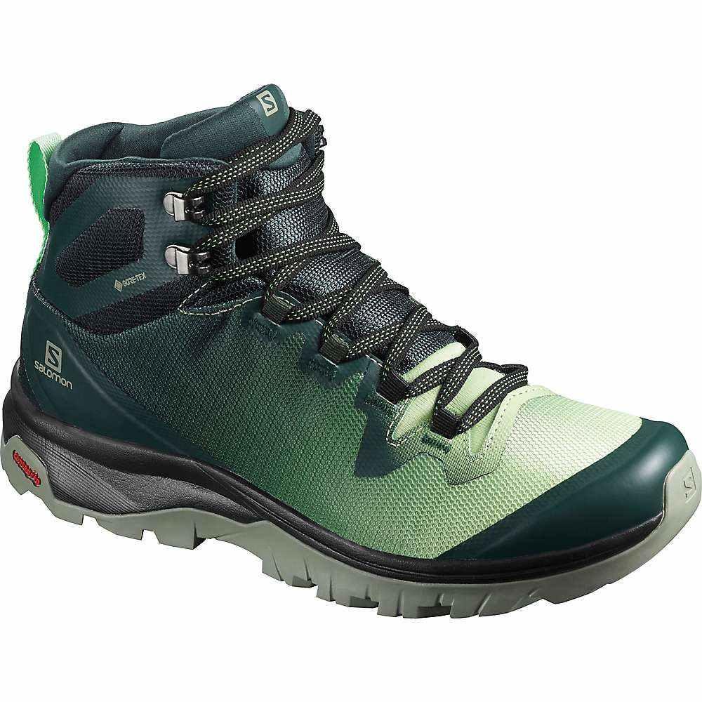 サロモン Salomon レディース ハイキング・登山 シューズ・靴【Vaya Mid GTX Shoe】Green Gables/Spruce Stone/Shadow
