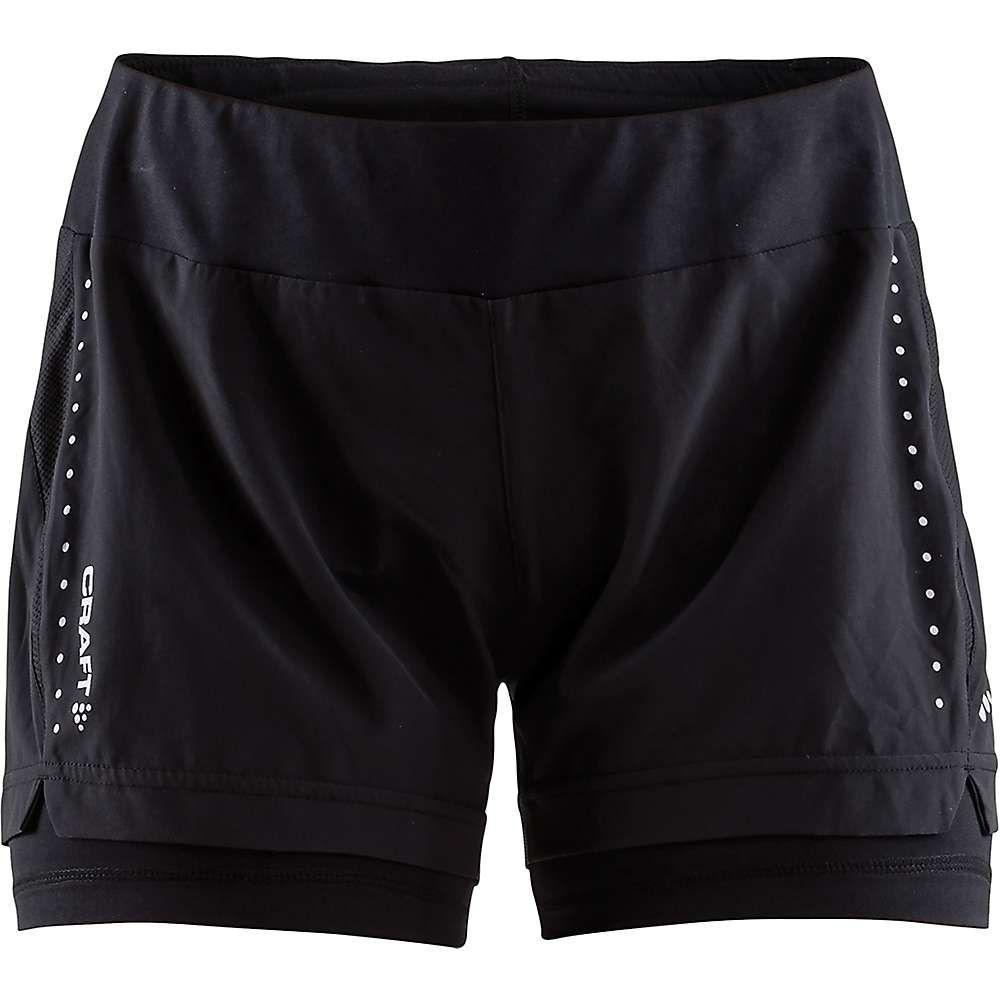 クラフト Craft Sportswear レディース ランニング・ウォーキング ショートパンツ ボトムス・パンツ【Craft Essential 2 IN 1 Short】Black