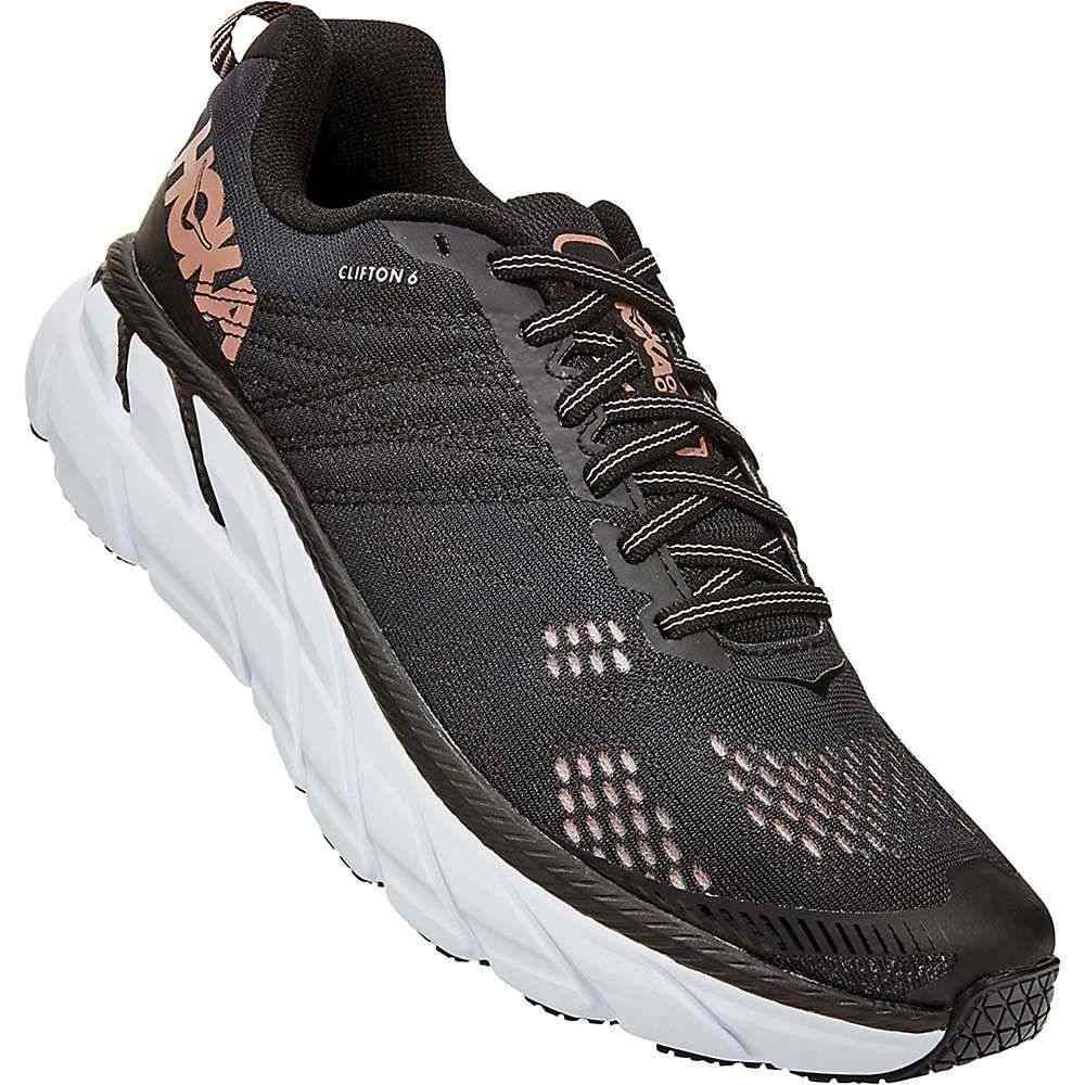 ホカ オネオネ Hoka One One レディース ランニング・ウォーキング シューズ・靴【Clifton 6 Shoe】Black/Rose Gold