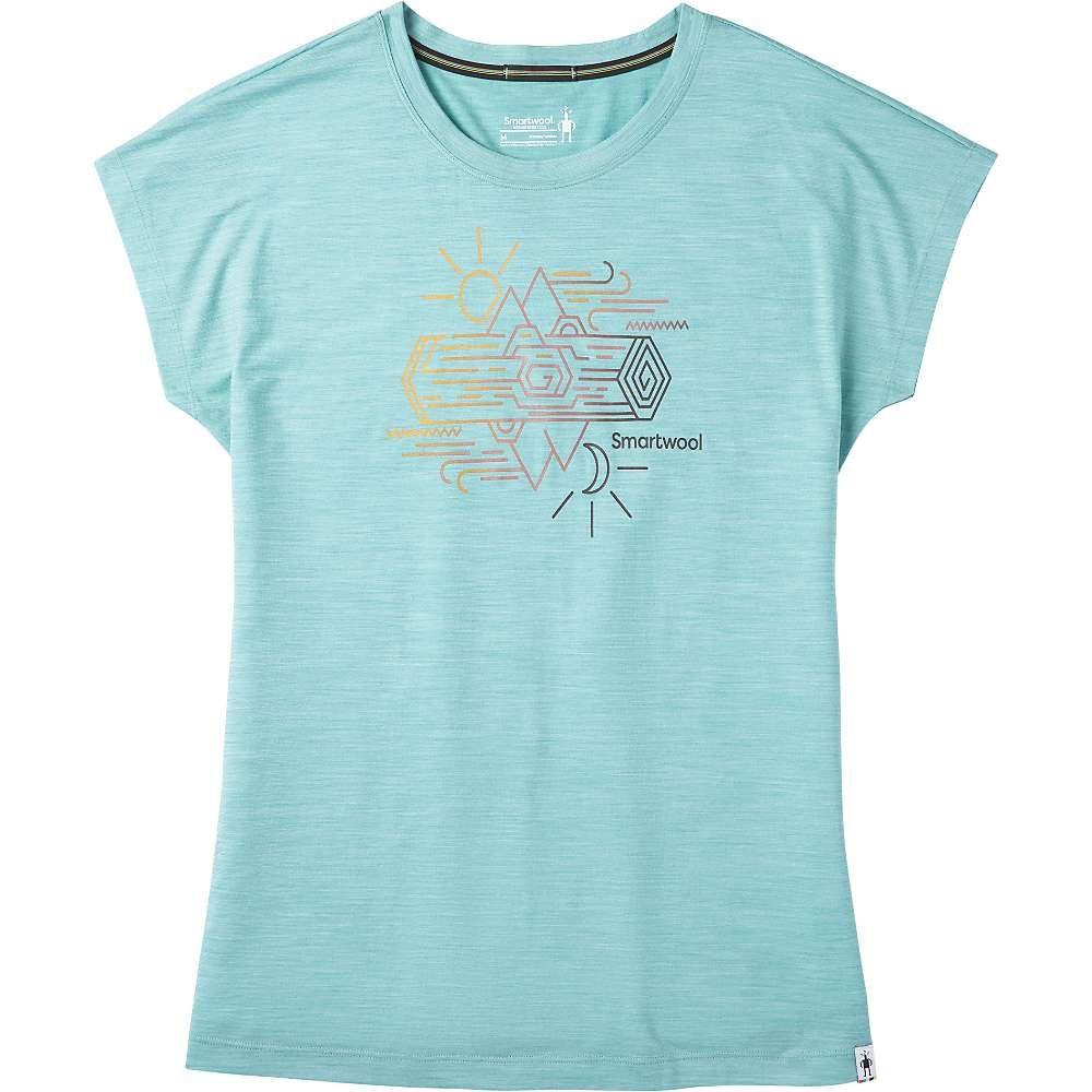スマートウール Smartwool レディース フィットネス・トレーニング Tシャツ トップス【Merino Sport 150 Mountain Reflection Tee】Wave Blue Heather