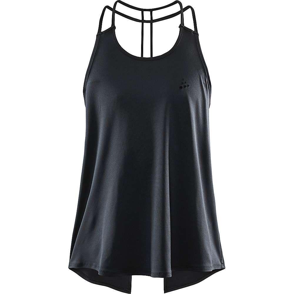 クラフト Craft Sportswear レディース フィットネス・トレーニング トップス【Craft Untmd Strap Singlet】Black