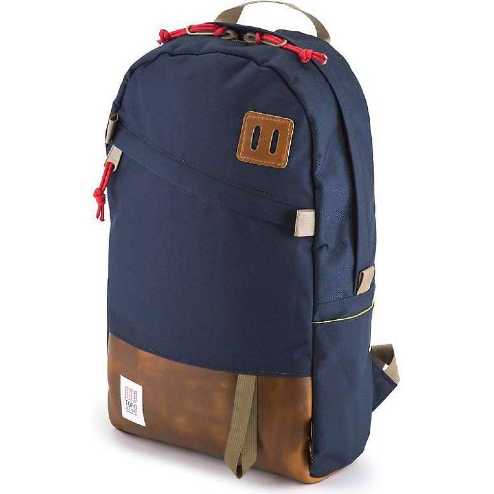 トポ デザイン Topo Designs メンズ バックパック・リュック バッグ【Daypack】Navy/Leather