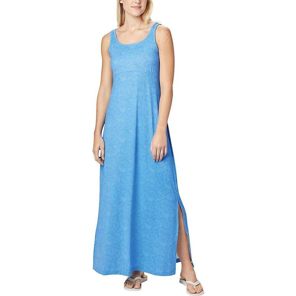 コロンビア Columbia レディース ワンピース マキシ丈 ワンピース・ドレス【Freezer Maxi Dress】Stormy Blue Seaside Swirls Print