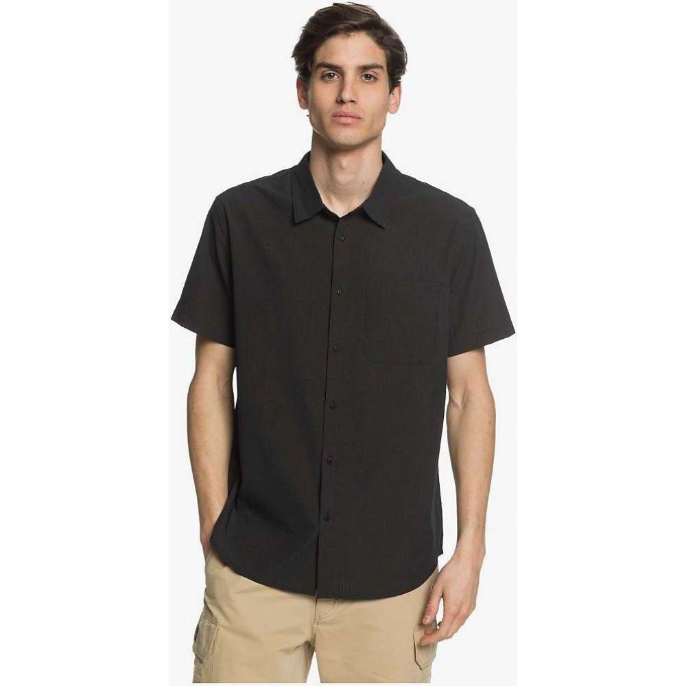 クイックシルバー Quiksilver メンズ 半袖シャツ トップス【Tech Tides Shirt】Black