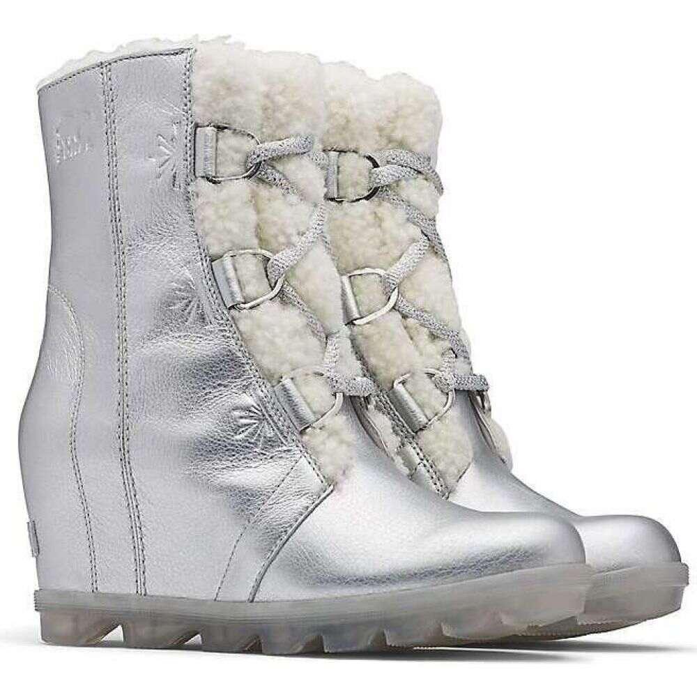 ソレル Sorel レディース ブーツ ウェッジソール シューズ・靴【Disney Frozen Joan Of Arctic Wedge II Boot】Pure Silver