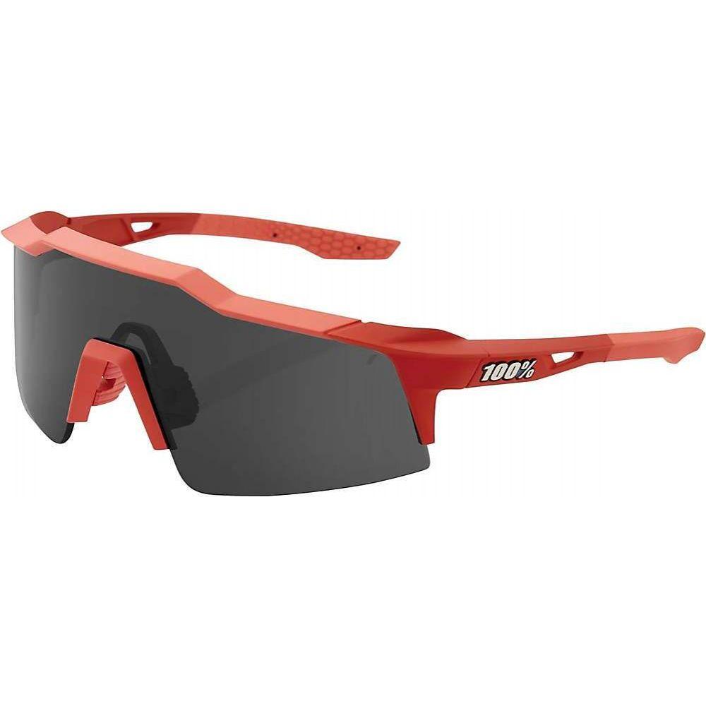 ヒャクパーセント 1 ユニセックス スポーツサングラス 【00% Speedcraft SL Sunglasses】Soft Tact Coral/Smoke Lens