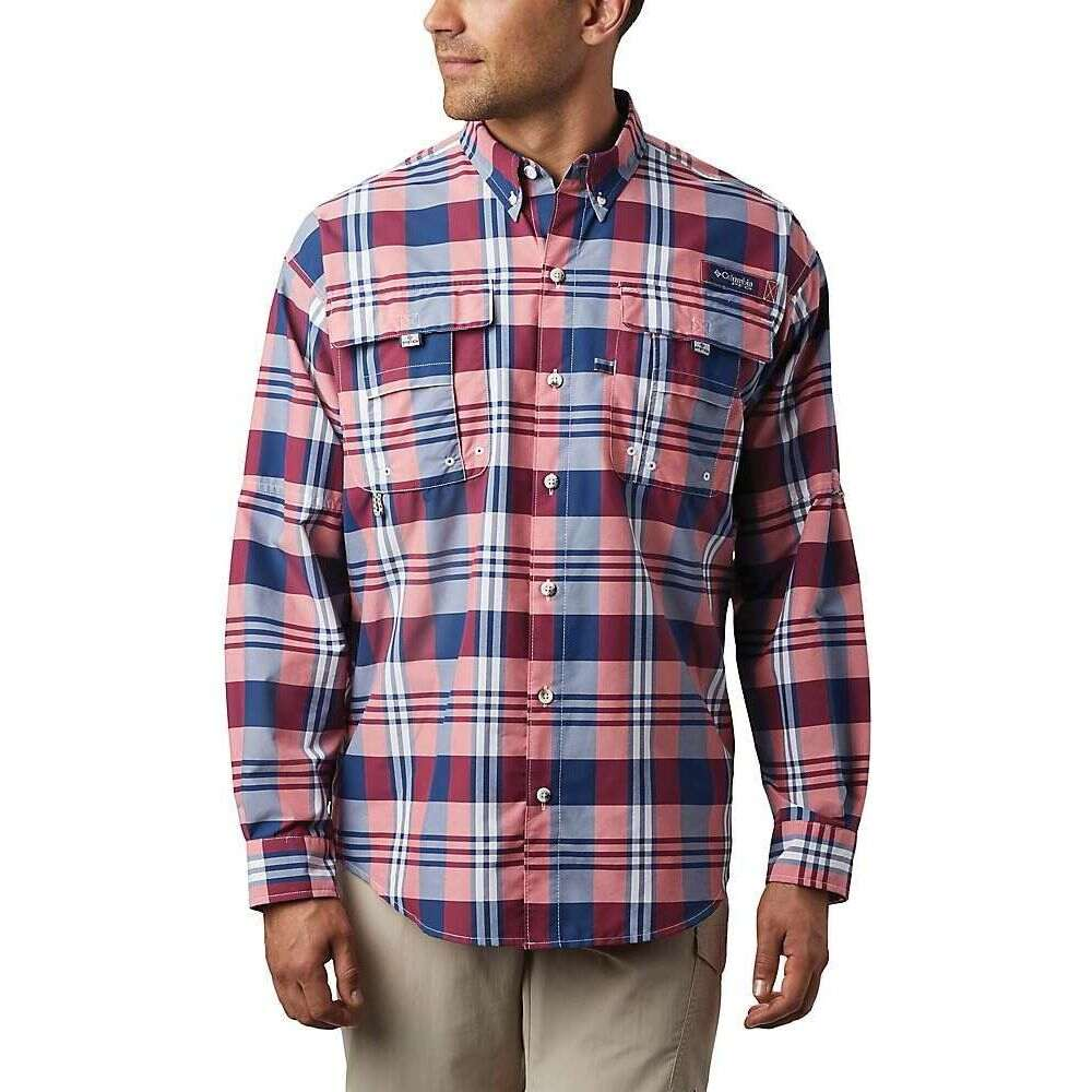 コロンビア Columbia メンズ シャツ トップス【Super Bahama LS Shirt】Carbon Multi Plaid