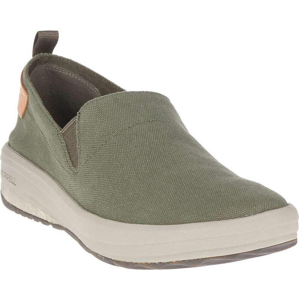 メレル Merrell メンズ スリッポン・フラット シューズ・靴【Gridway Moc Canvas Shoe】Olive