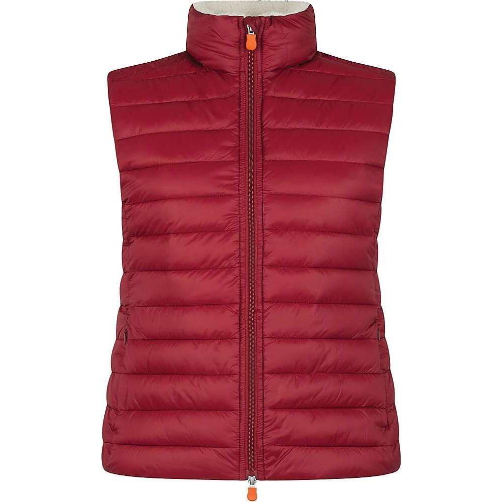 セイブ ザ ダック Save The Duck レディース ベスト・ジレ トップス【Sherpa Vest】Mineral Red