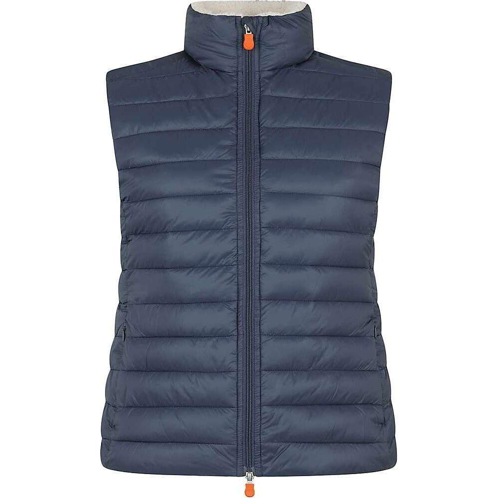 セイブ ザ ダック Save The Duck レディース ベスト・ジレ トップス【Sherpa Vest】Ebony Grey