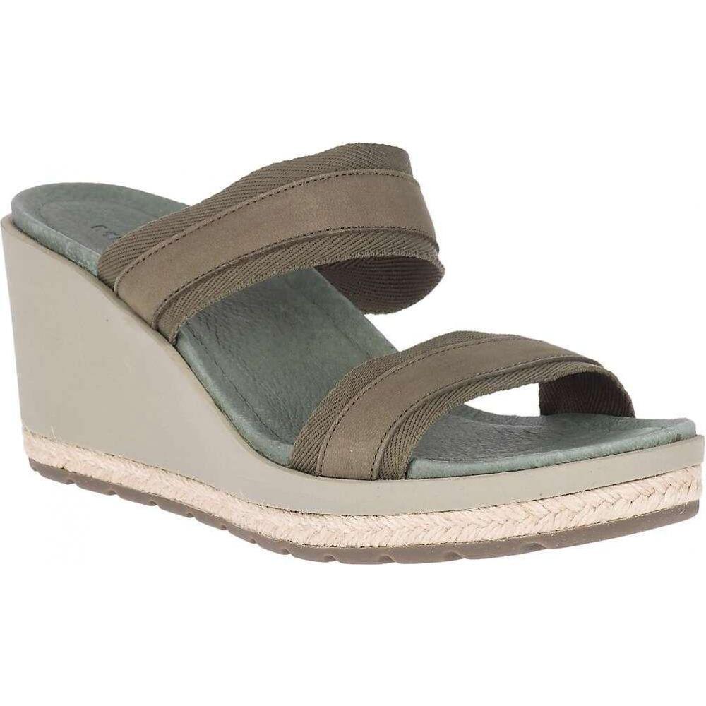 メレル Merrell レディース サンダル・ミュール ウェッジソール シューズ・靴【Kaiteri Wedge Slide】Olive