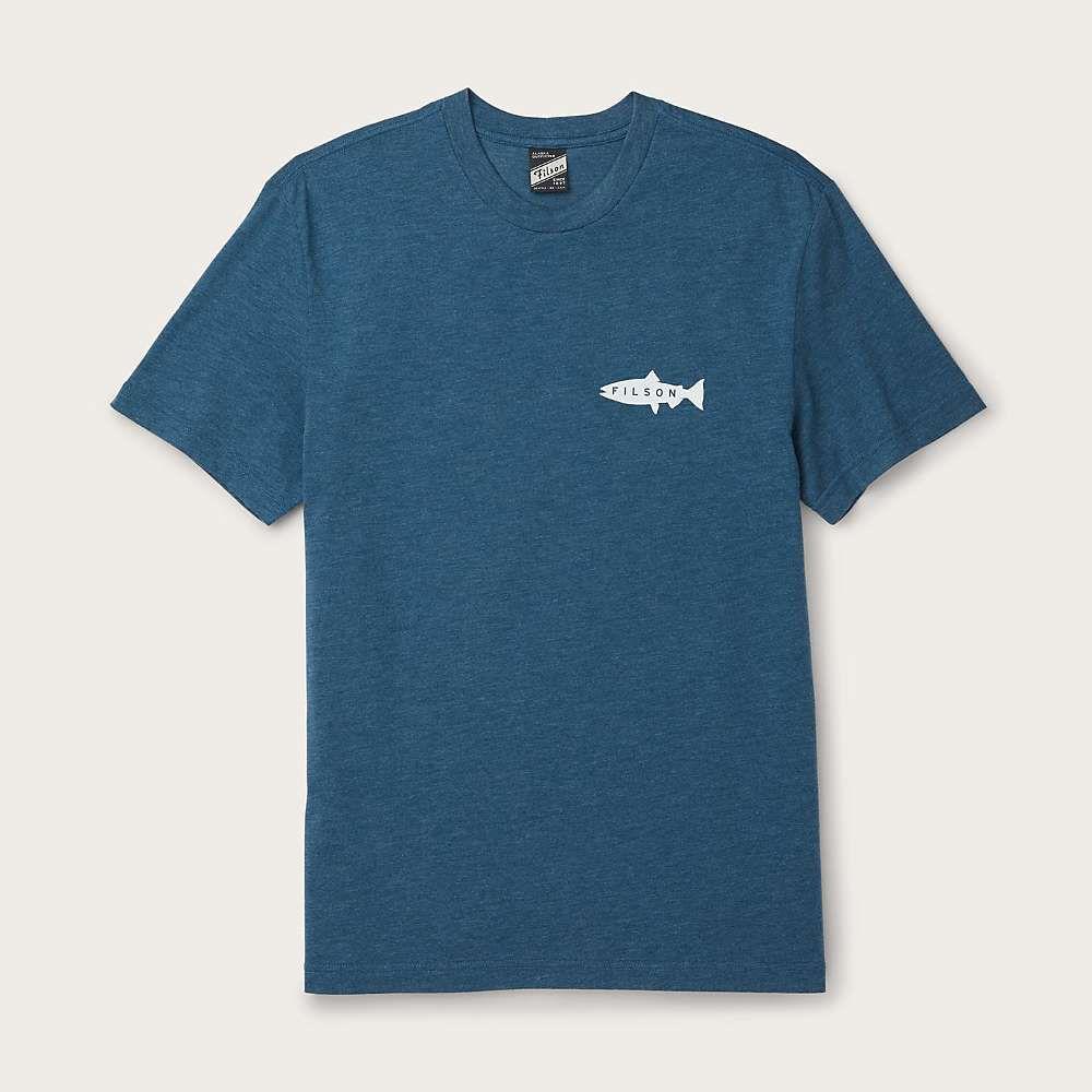 フィルソン オープニング 大放出セール メンズ トップス Tシャツ 絶品 Blue Wing サイズ交換無料 Teal Captain's T-Shirt Buckshot Filson