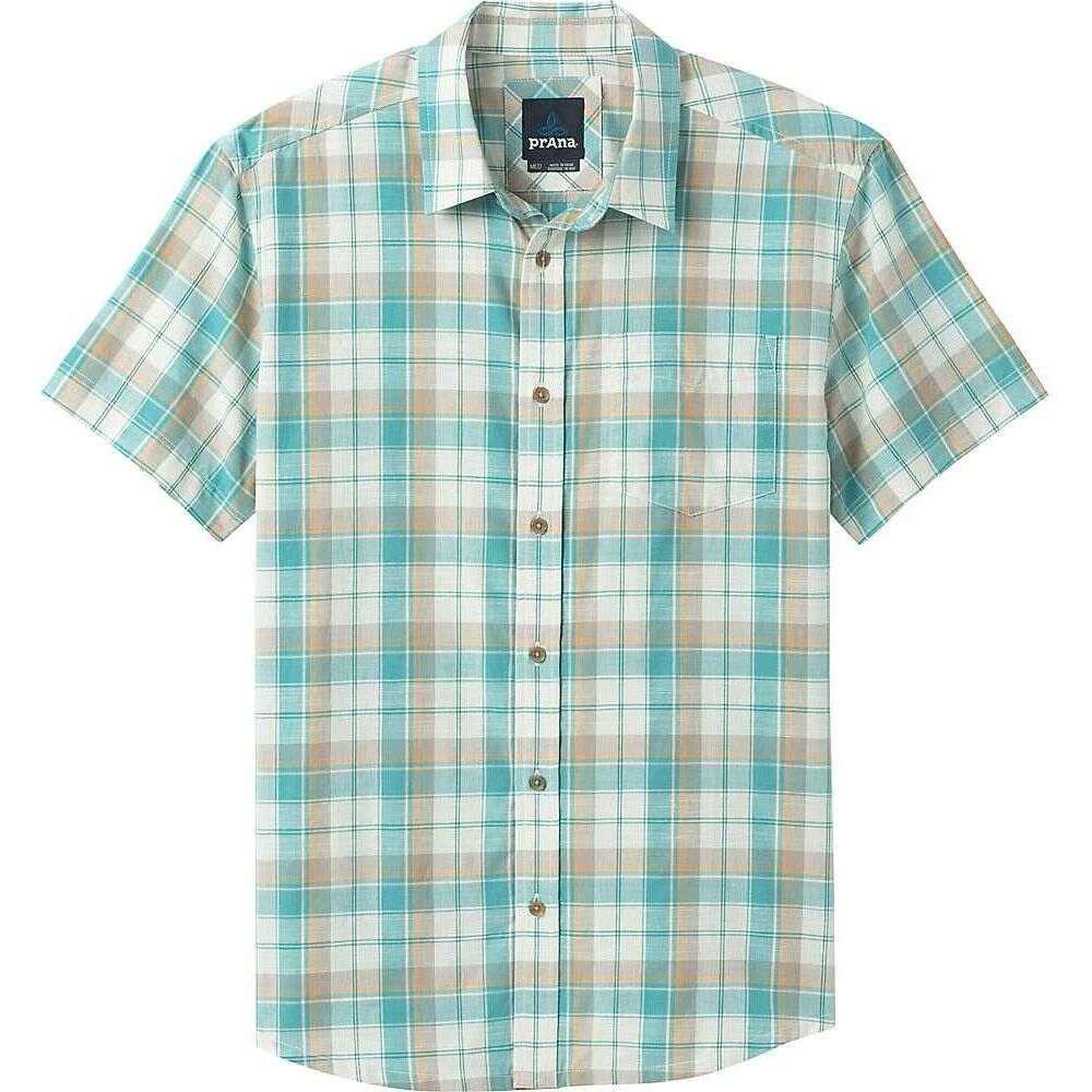 プラーナ Prana メンズ 半袖シャツ トップス【Benton Shirt】Azurite