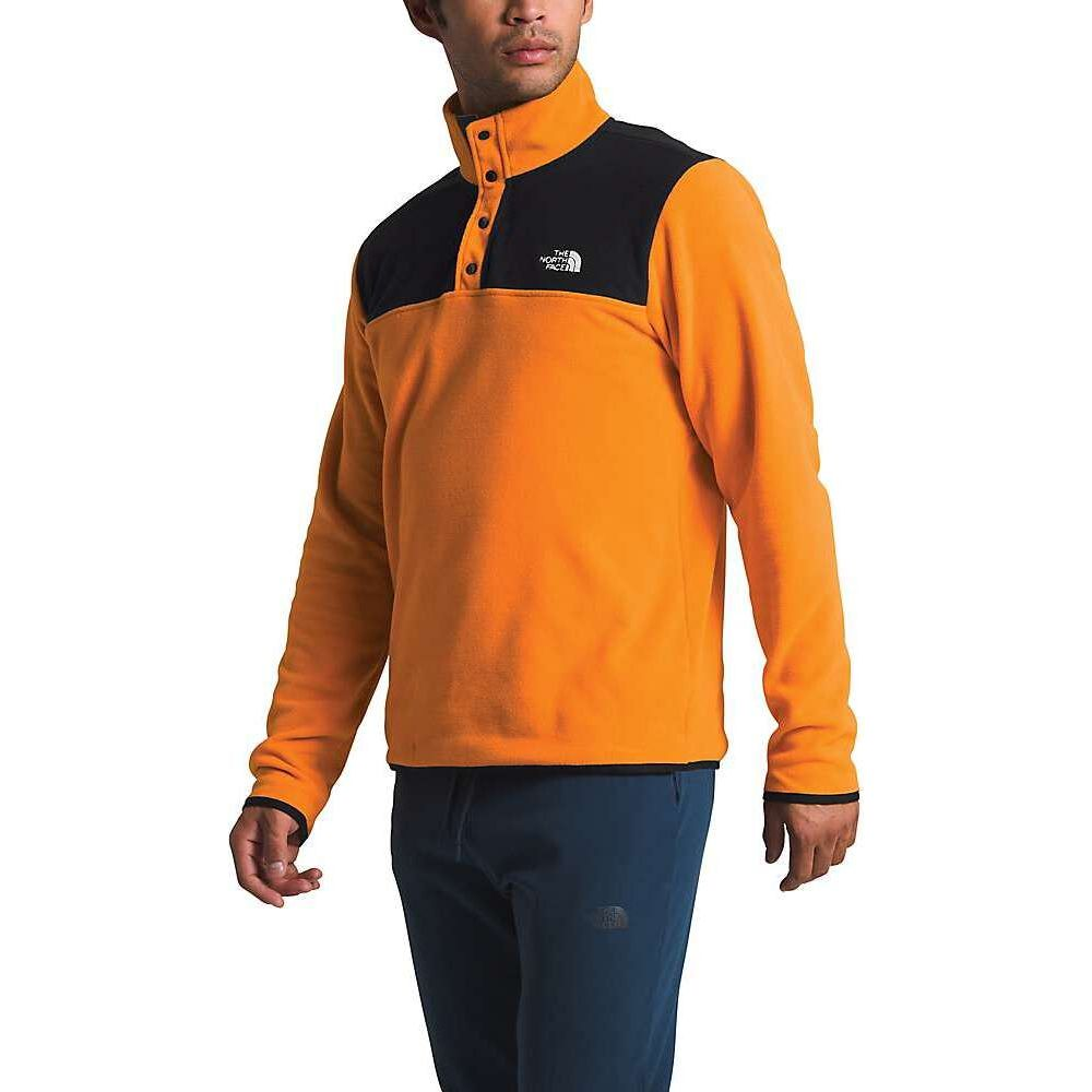ザ ノースフェイス The North Face メンズ フリース トップス【TKA Glacier Snap-Neck Pullover】Flame Orange/TNF Black