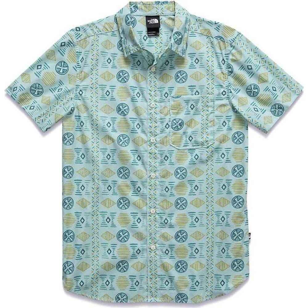 ザ ノースフェイス The North Face メンズ 半袖シャツ トップス【Baytrail Pattern SS Shirt】Coastal Green Song Lines Print