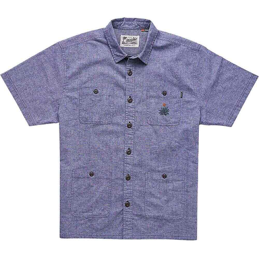 ホウラーブラザーズ Howler Brothers メンズ 半袖シャツ トップス【Voyager Shirt】Midnight Blue Chambray