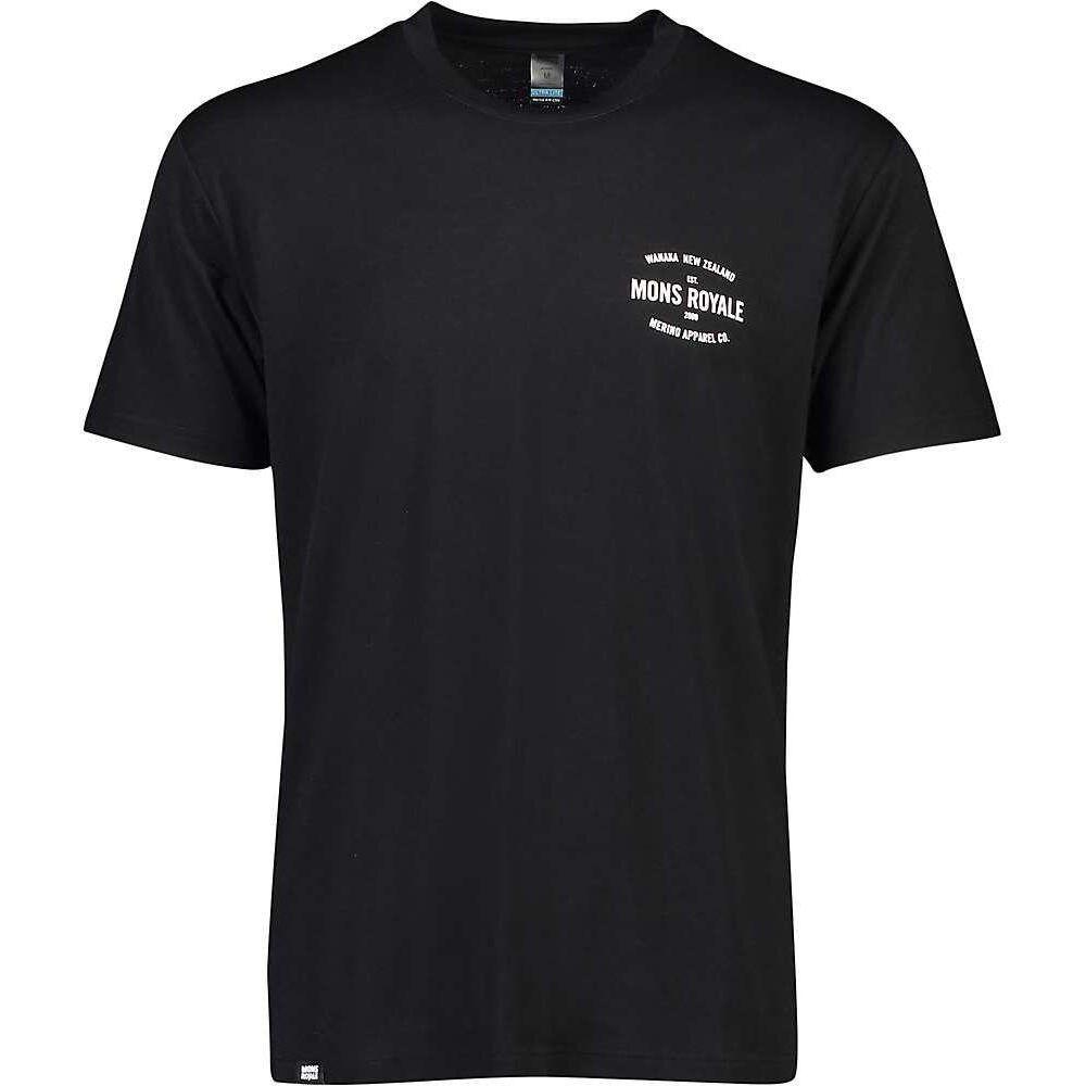 モンスロイヤル Mons Royale メンズ ハイキング・登山 Tシャツ トップス【Icon T-Shirt】Black
