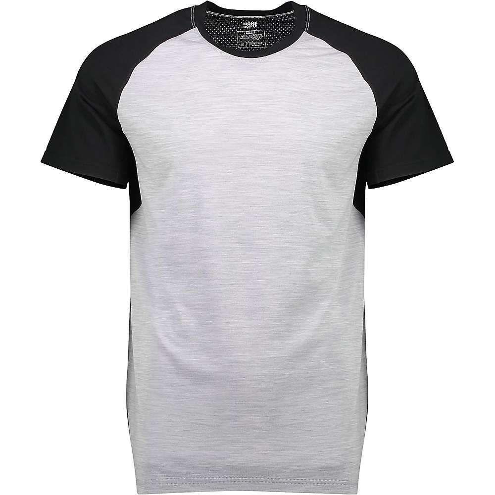 モンスロイヤル Mons Royale メンズ ハイキング・登山 Tシャツ トップス【Temple Tech Tee】Black/Grey Marl