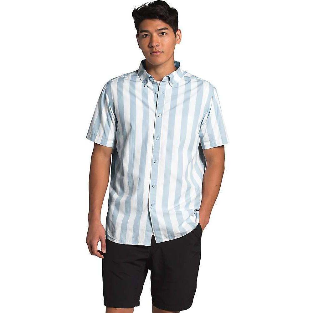 ザ ノースフェイス The North Face メンズ 半袖シャツ トップス【Monanock SS II Shirt】Faded Blue Elevation Stripe