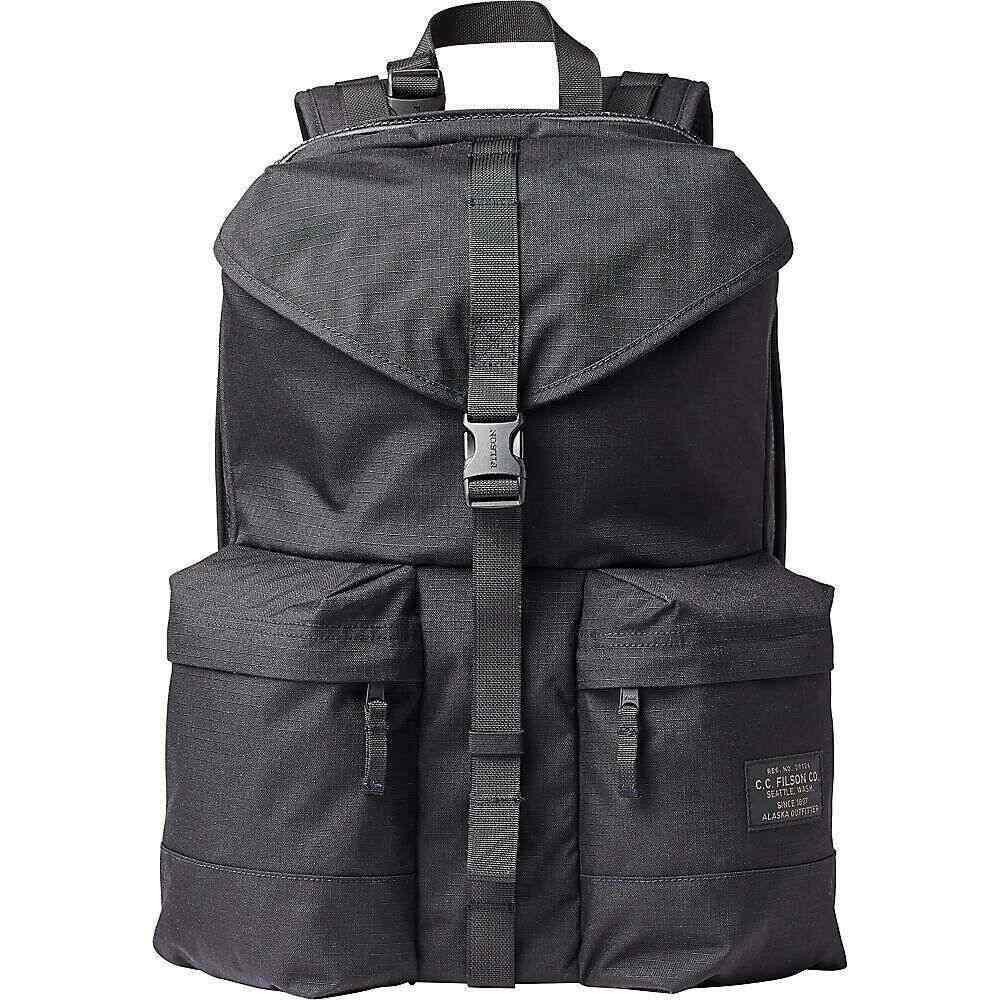 フィルソン Filson メンズ バックパック・リュック バッグ【Ripstop Nylon Backpack】Black