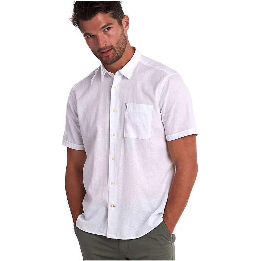 バブアー Barbour メンズ 半袖シャツ トップス【Linen Mix 1 SS Summer Shirt】White