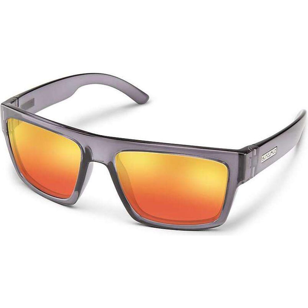 サンクラウド Suncloud ユニセックス メガネ・サングラス 【Flatline Sunglasses】Transparent Gray/Red Mirror