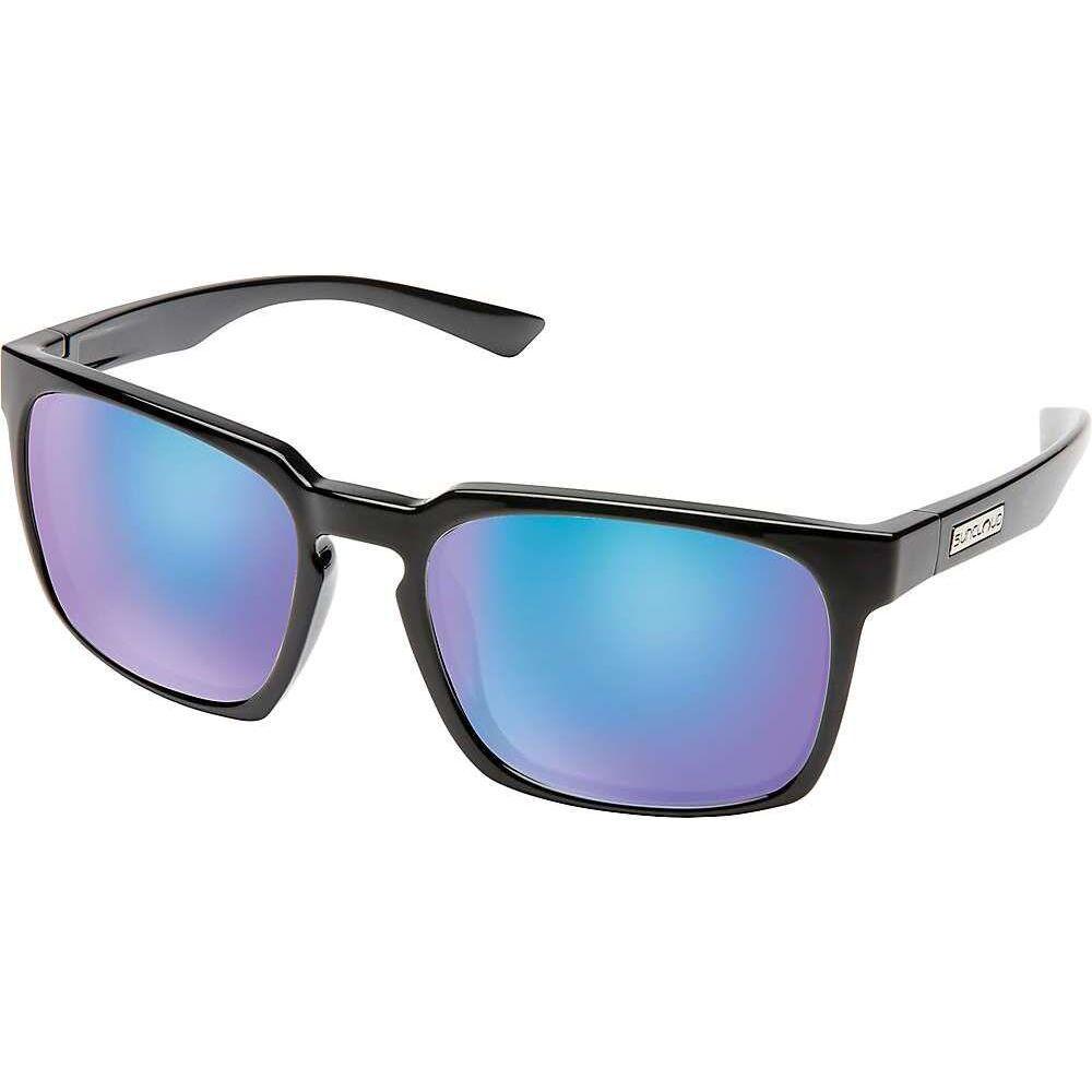 サンクラウド Suncloud ユニセックス メガネ・サングラス 【Hundo Sunglasses】Black/Polarized Blue Mirror