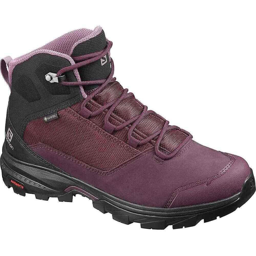 サロモン Salomon レディース ハイキング・登山 ブーツ シューズ・靴【Outward GTX Boot】Winetasting/Black/Quail