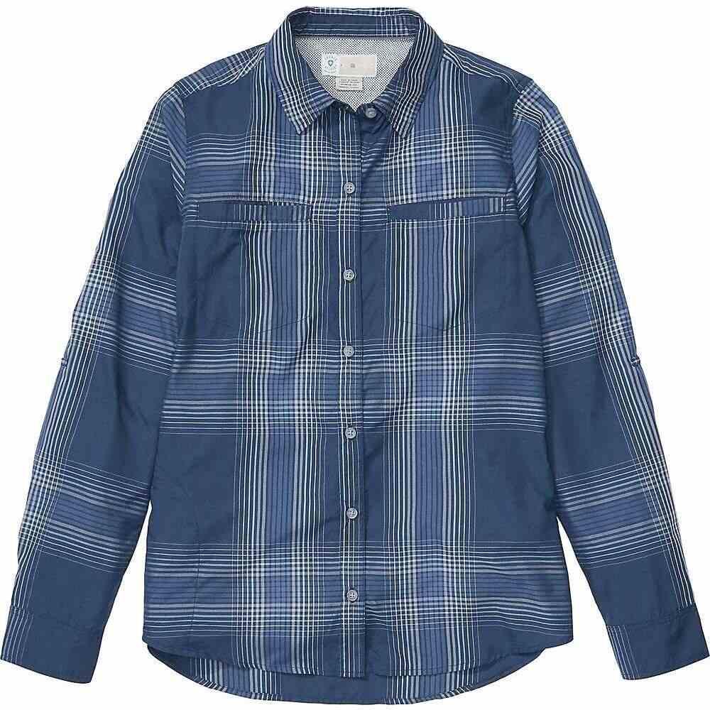 エクスオフィシオ ExOfficio レディース ハイキング・登山 シャツ トップス【BugsAway Palotina LS Shirt】Navy