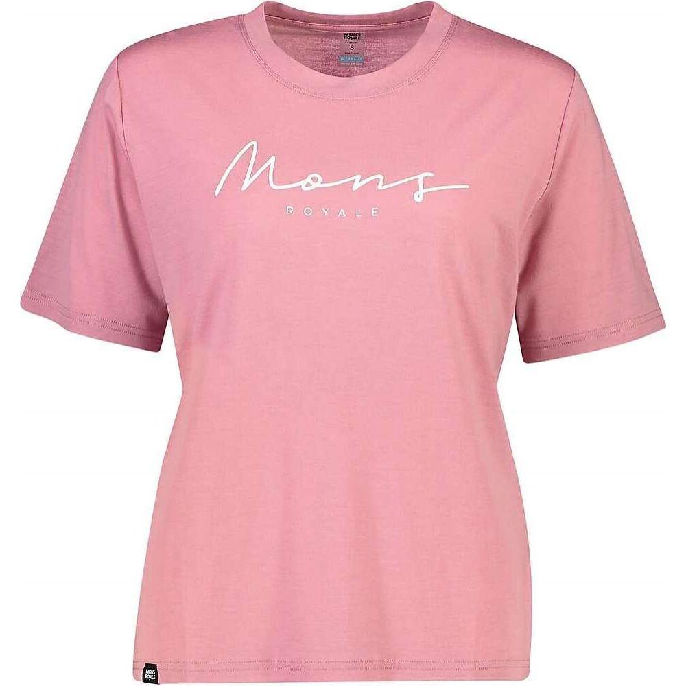 モンスロイヤル Mons Royale レディース ハイキング・登山 Tシャツ トップス【Suki BF Tee】Dusty Pink
