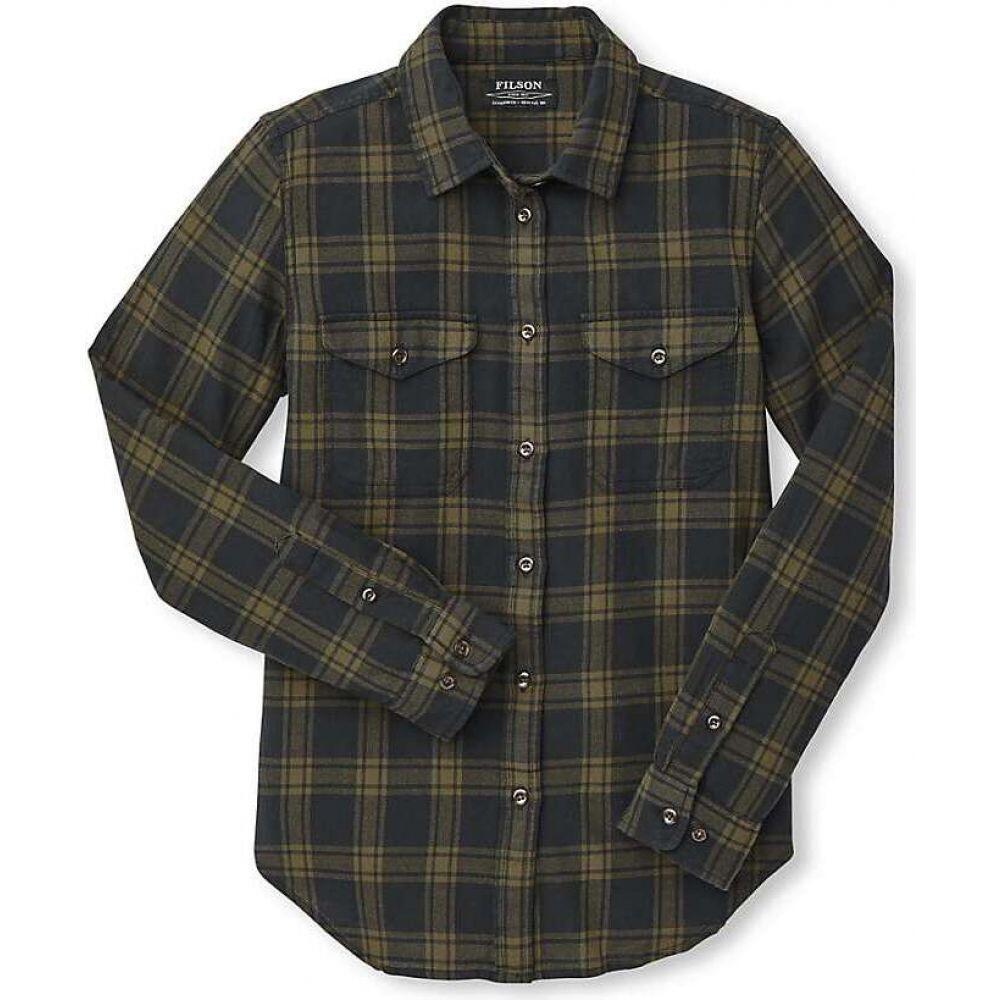 フィルソン Filson レディース ハイキング・登山 トップス【Scout Shirt】Black/Dark Olive