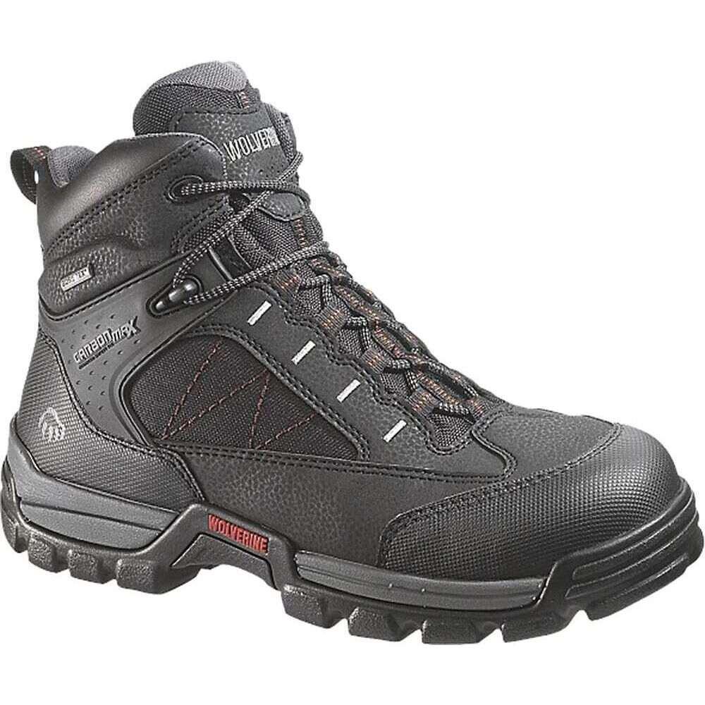 ウルヴァリン Wolverine メンズ ハイキング・登山 ブーツ シューズ・靴【Amphibian GTX Safety Toe Boot】Black