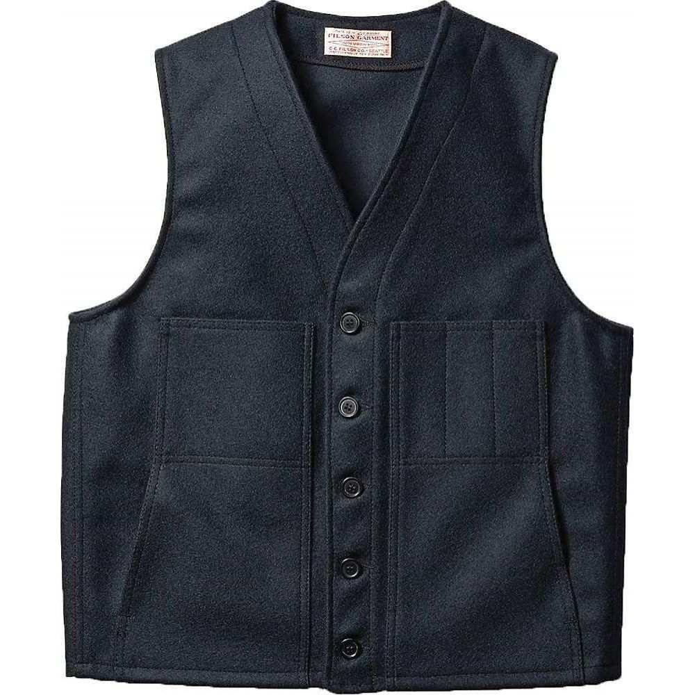 フィルソン Filson メンズ ベスト・ジレ トップス【Mackinaw Wool Vest】Navy