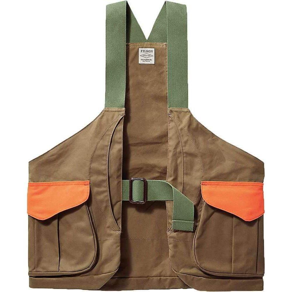 フィルソン Filson メンズ ベスト・ジレ トップス【Shelter Cloth Strap Vest】Tan/Blaze Orange